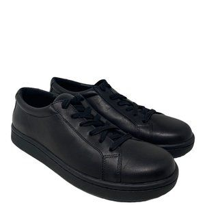 New Eileen Fisher Cal Washed Leather Black Sneakers Size 8